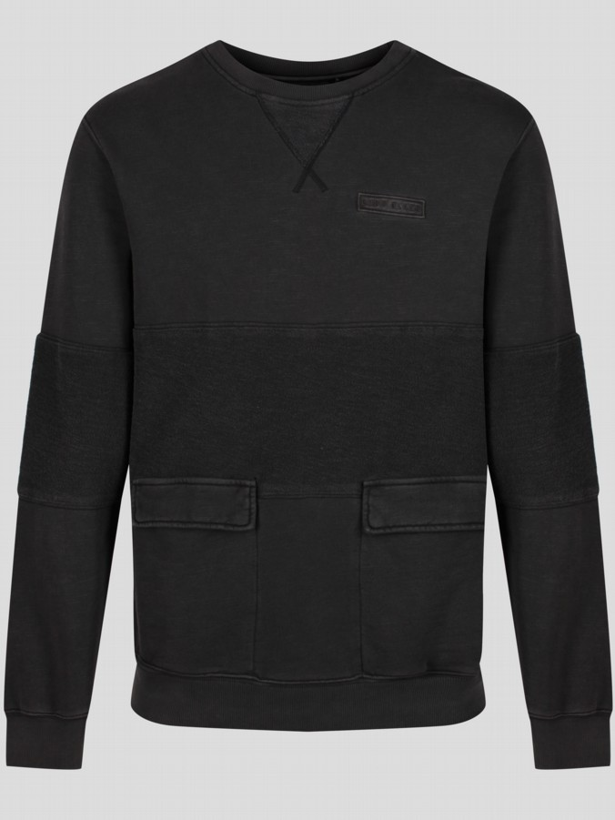 Luke Black Luke 1977 menswear designer long sleeve crew neck sweatshirt