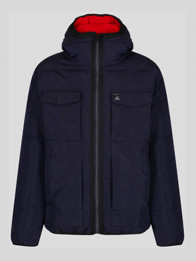 RE EMERSION REVERSIBLE QUILTED JACKET