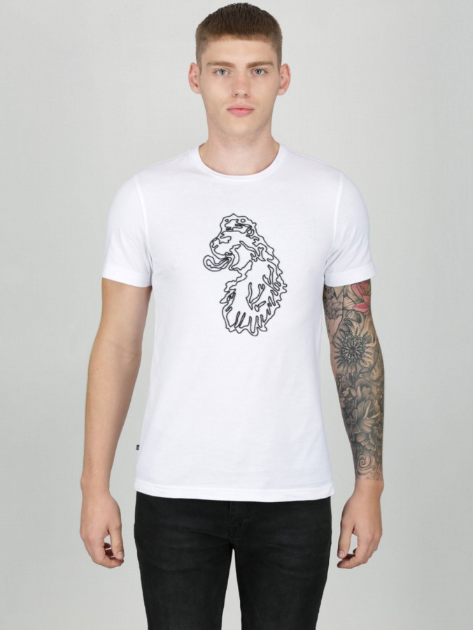 BD BEADED LION HEAD T-SHIRT