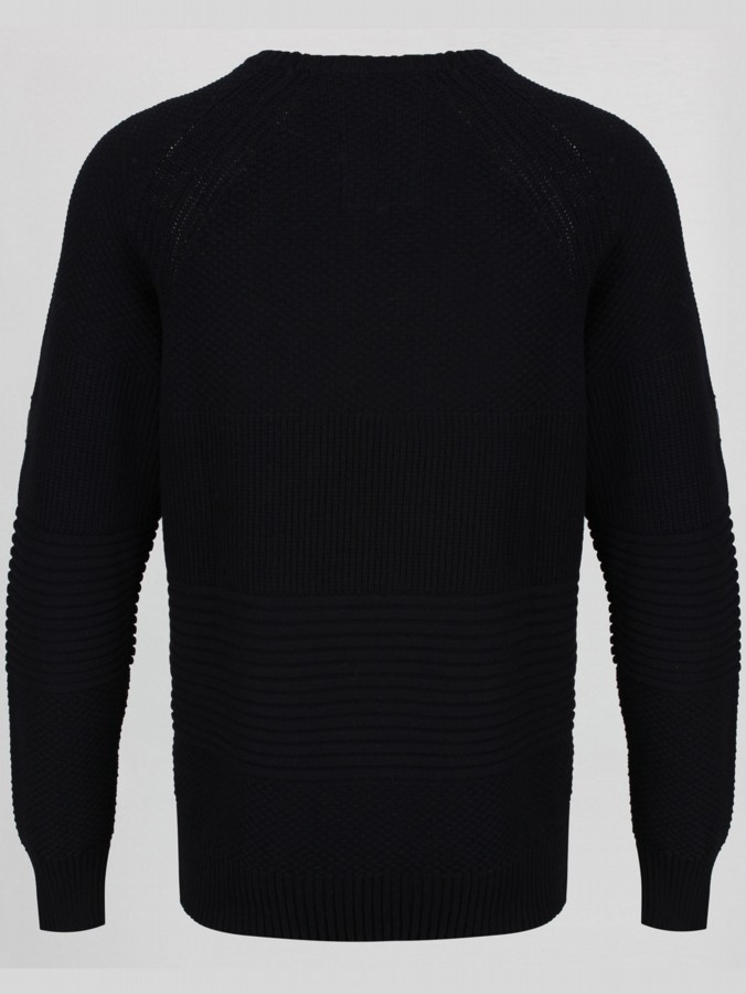 NEW MARGIN RIB DETAIL CREW KNIT