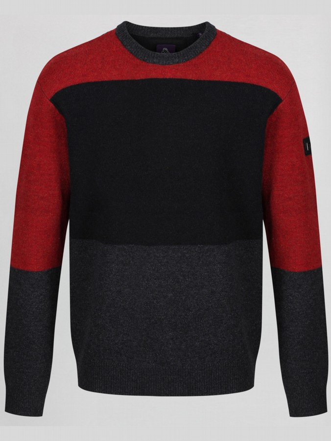 STFU COLOUR BLOCK CREW KNIT