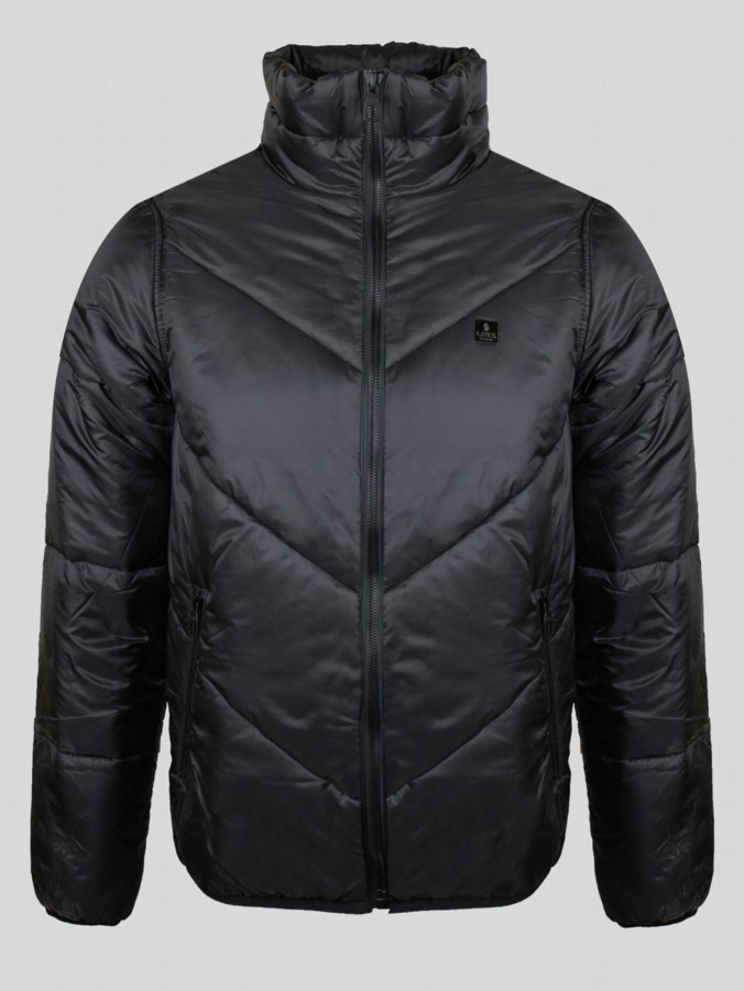 diagonal quilted jacket