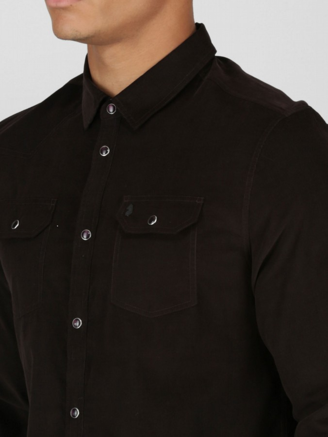 OUR ROY L/S POPPER FASTENING SHIRT