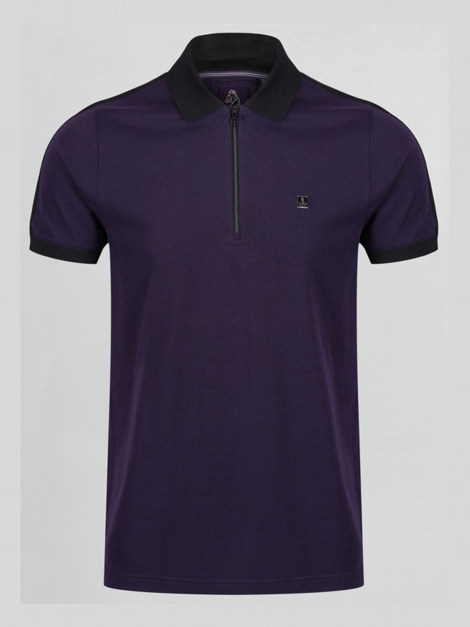 RONS SON ZIP DETAIL POLO