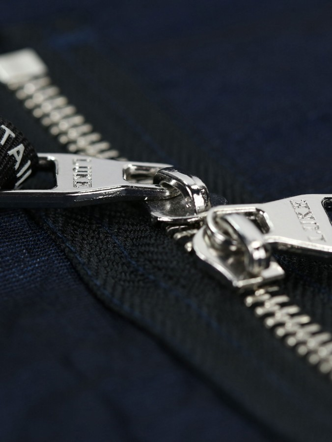 STRAP ON POCKET DETAIL COLLARED MAC