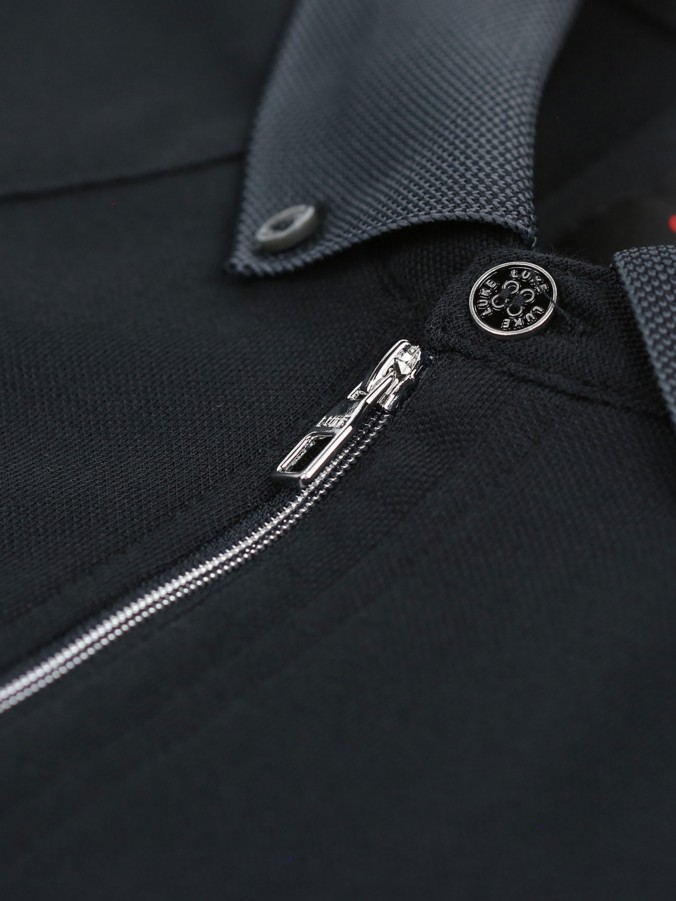 RAINBOW ZIP DETAIL POLO