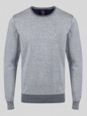 RHODIUM CREW NECK PLATED KNIT