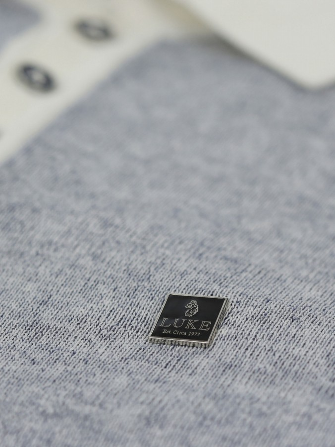 PLUTONIUM S/S KNITTED POLO PLATED KNIT
