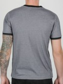 luke 1977 menswear designer crew neck tshirt button up fastening short sleeve tee