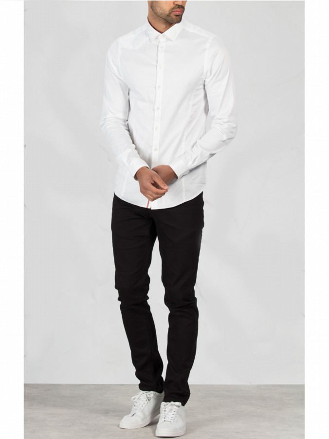luke 1977 menswear long sleeve slim fit shirt