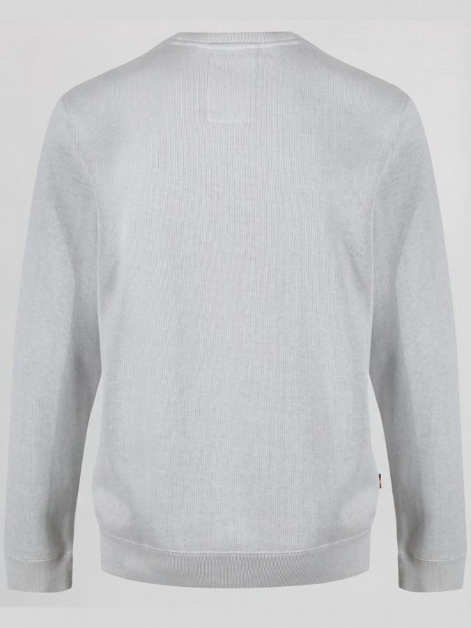 RC1 RIBBED CREW NECK SWEAT