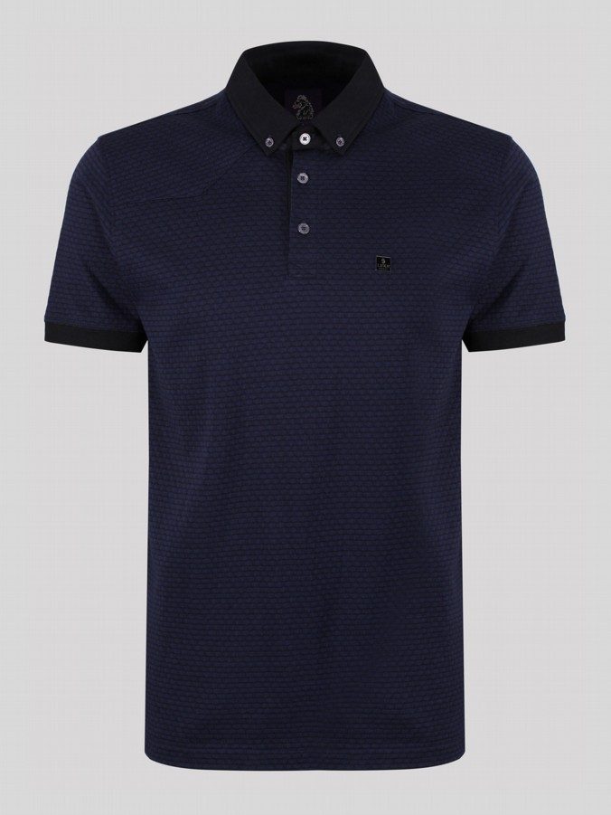 DEYA MIXED FABRIC POLO