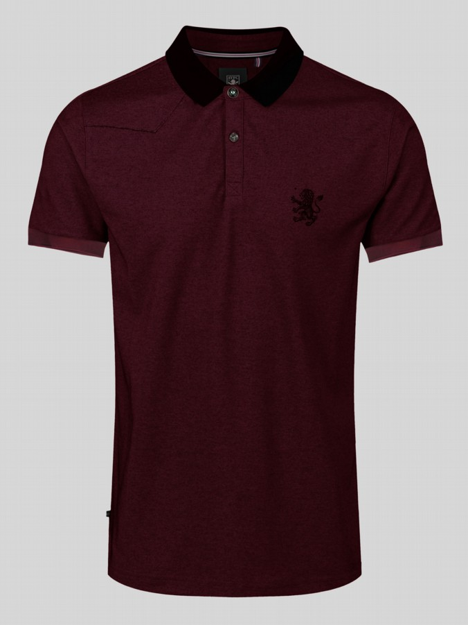 EVANS LUKE X AVFC S/S STRIPE COLLAR POLO