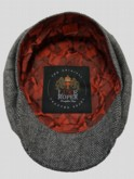 The Garrison Flat Cap With Camo Satin lining