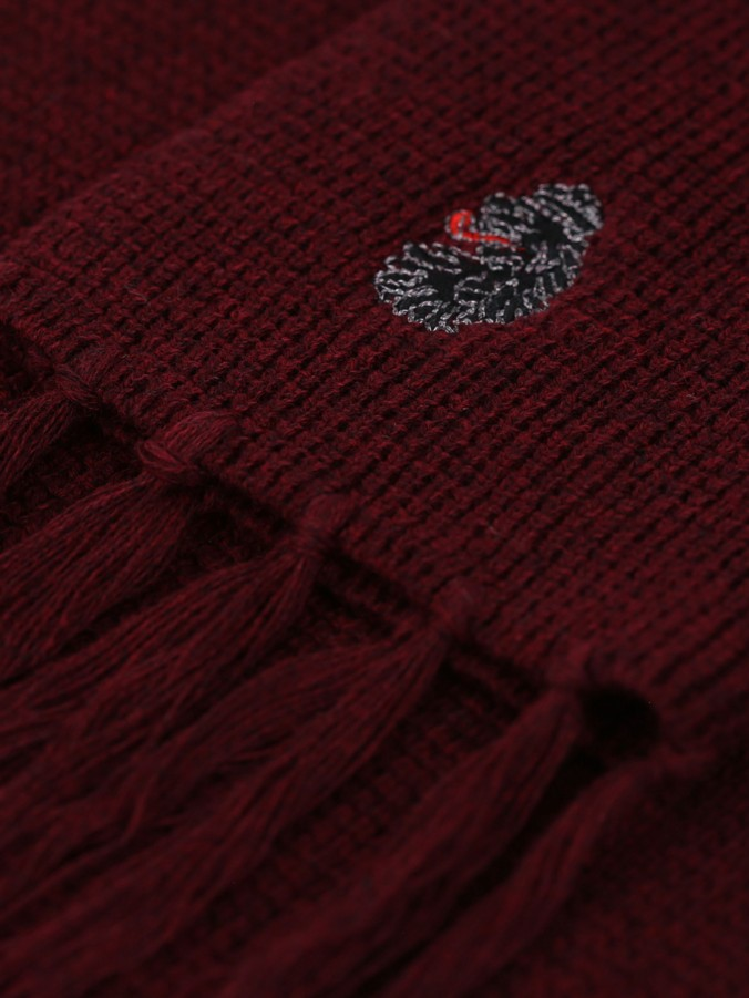 EASY NOW WAFFLE KNIT CREW & SCARF