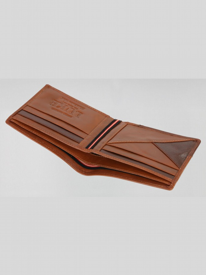 HECTOR CONTRAST LEATHER WALLET