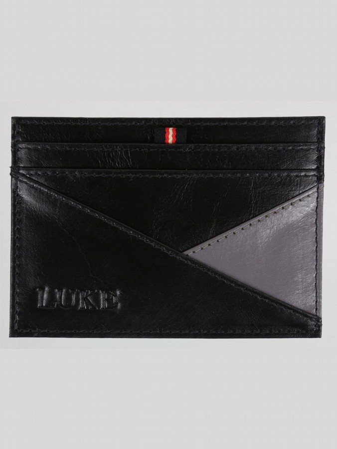 TUFFIN CONTRAST LEATHER CARD HOLDER