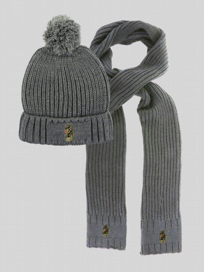Birt Hat and Scarf Set