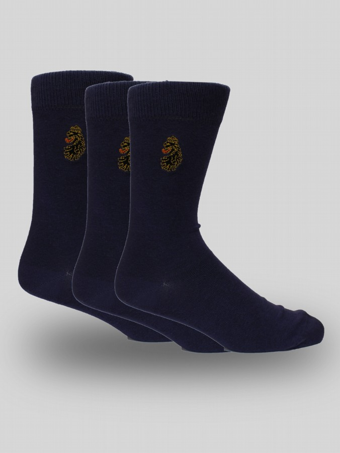 Arthur Navy 3 Pack Socks