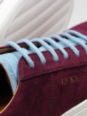 Claret Blue Suede trainers