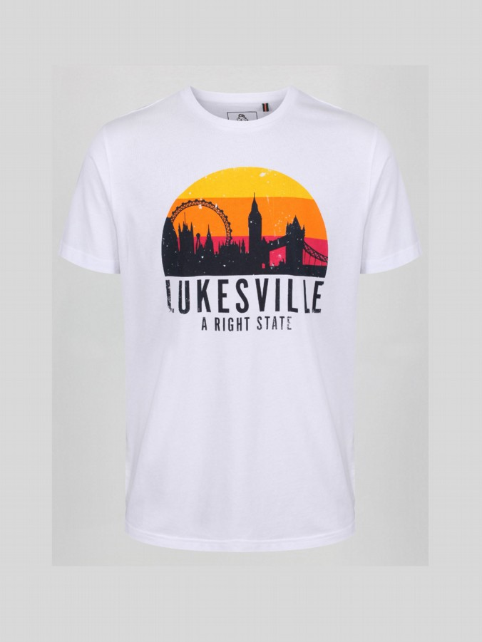 R STATE LUKESVILLE PRINTED T-SHIRT