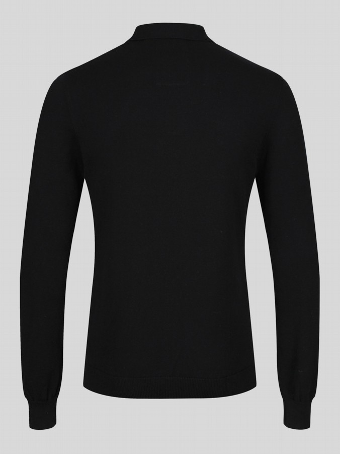 JOB AND KNOCK L/S COMPUTER KNIT POLO