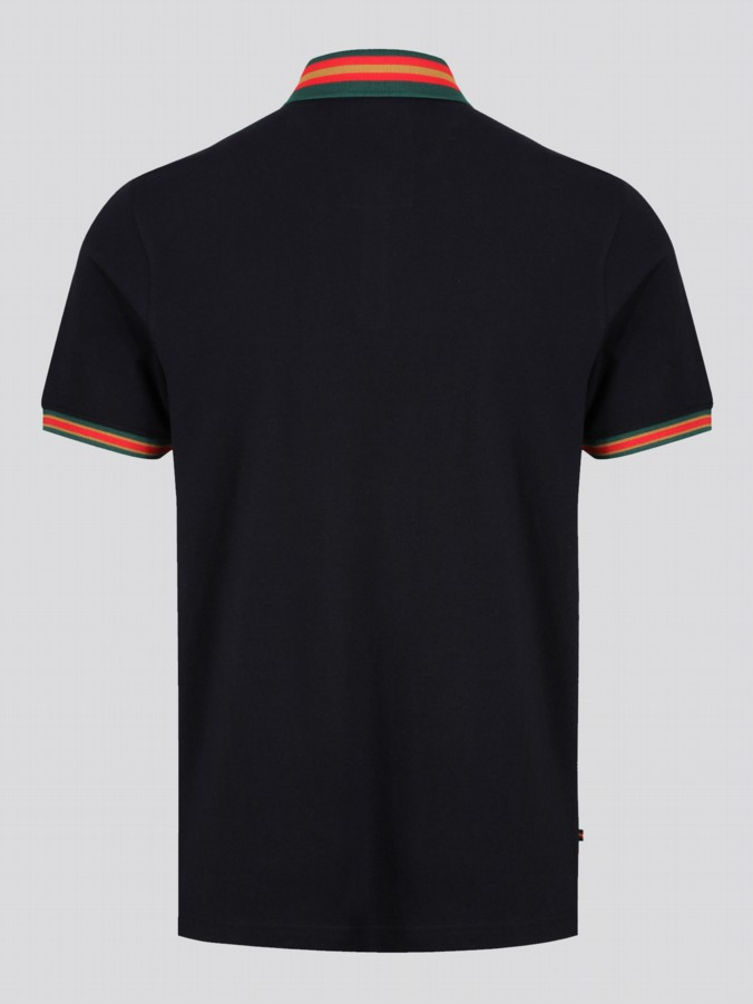 Shooting Star Black Sport Polo