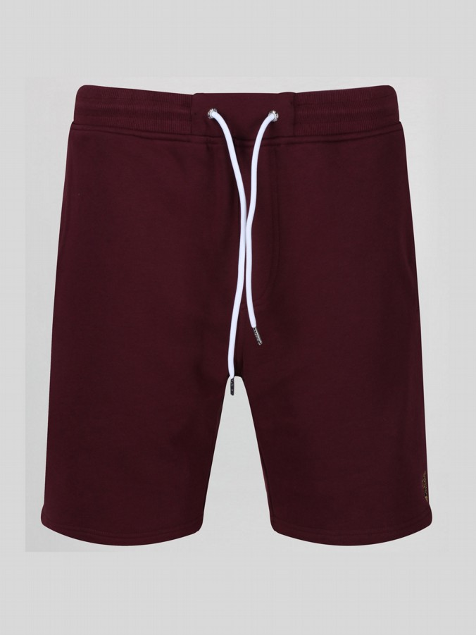 BREMNER CLARET AND BLUE SWEAT SHORTS