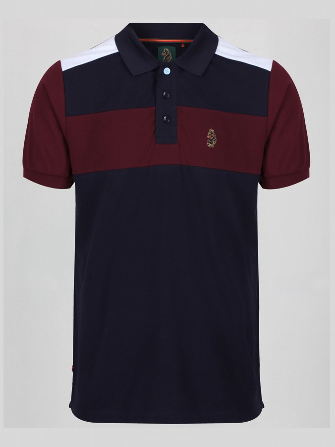 BLAIR CLARET AND BLUE POLO