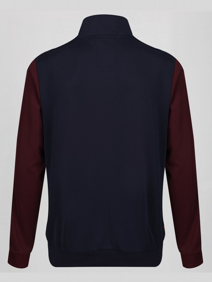 SPINK CLARET AND BLUE ZIP THROUGH FUNNEL