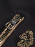 18 CARAT GOLD LION EMBROIDERY ZIP POCKET DETAIL SWEAT