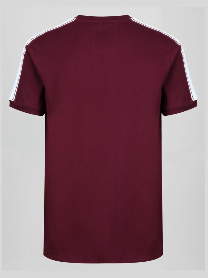RIGHT TOUCH CLARET & BLUE V NECK JERSEY