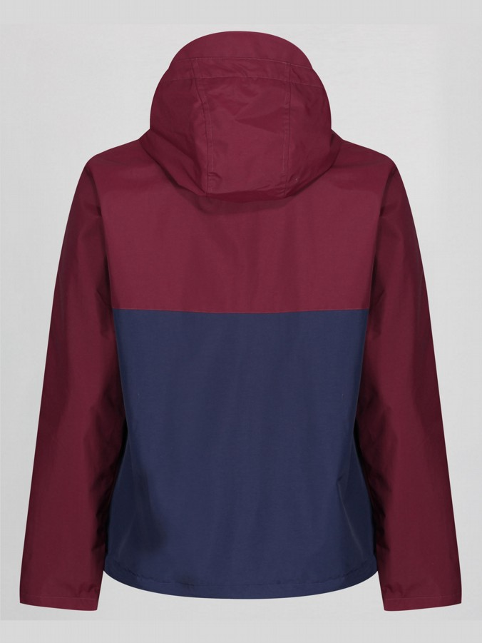 3PM SATURDAY CLARET & BLUE HOODED SPORT JACKET
