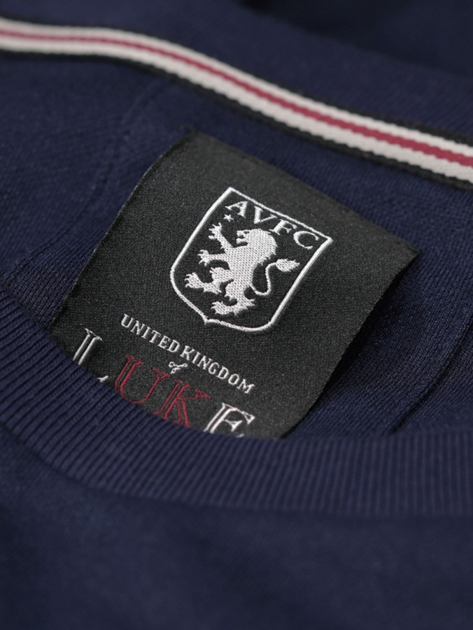 HOLTE SUITE LUKE X AVFC S/S TAPE DETAIL FORMAL CREW