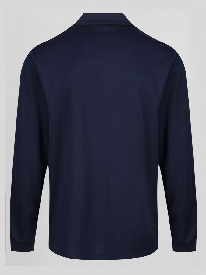 MY OLD MAN LUKE X AVFC L/S ZIO NECK FORMAL POLO