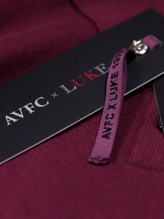 TURNER LUKE X AVFC L/S KNITTED POLO