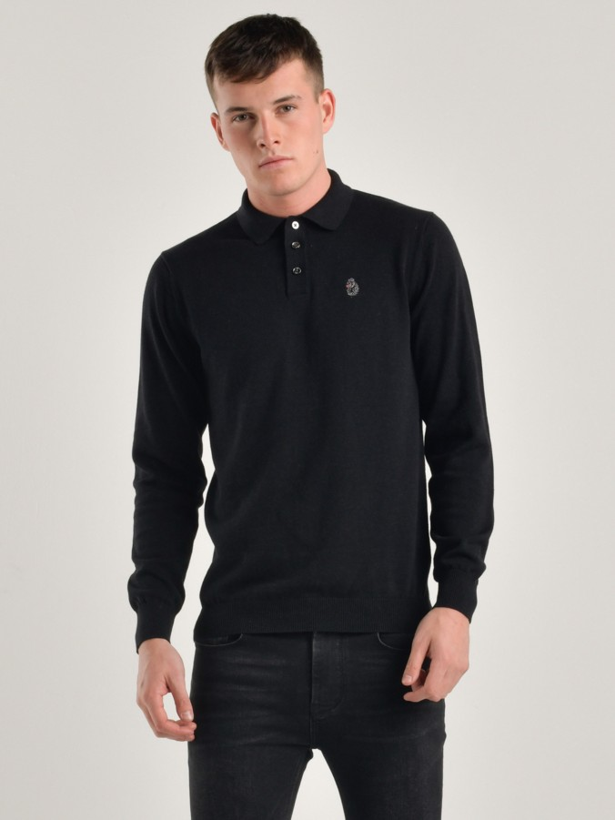 MAGNESIUM L/S KNITTED POLO