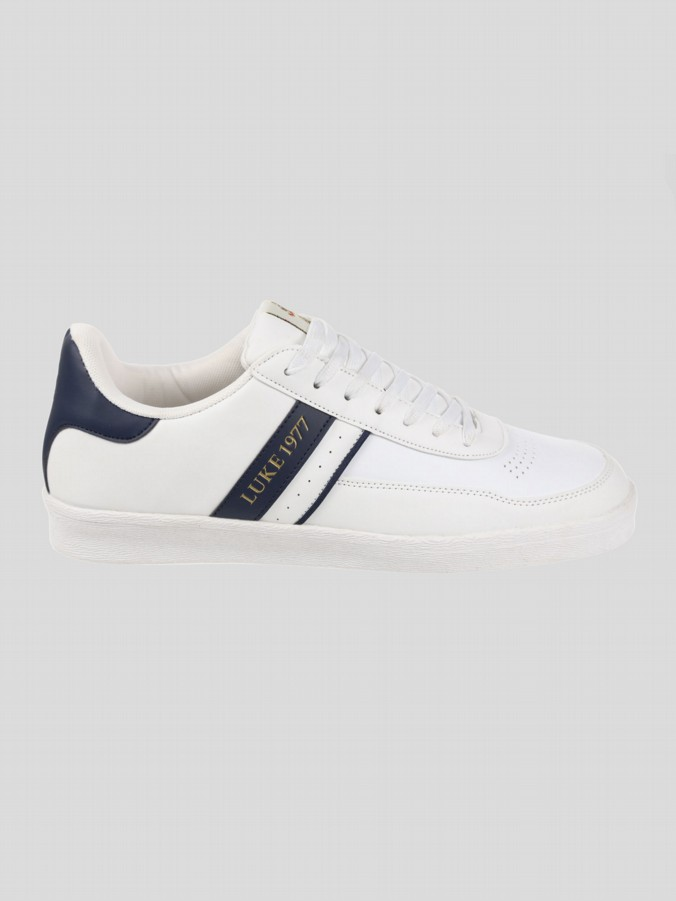 CRISTO CONTRAST HEEL LOW TRAINER
