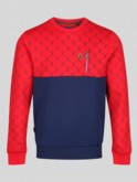 RING ROAD OVERPRINTED CREW NECK SWEAT