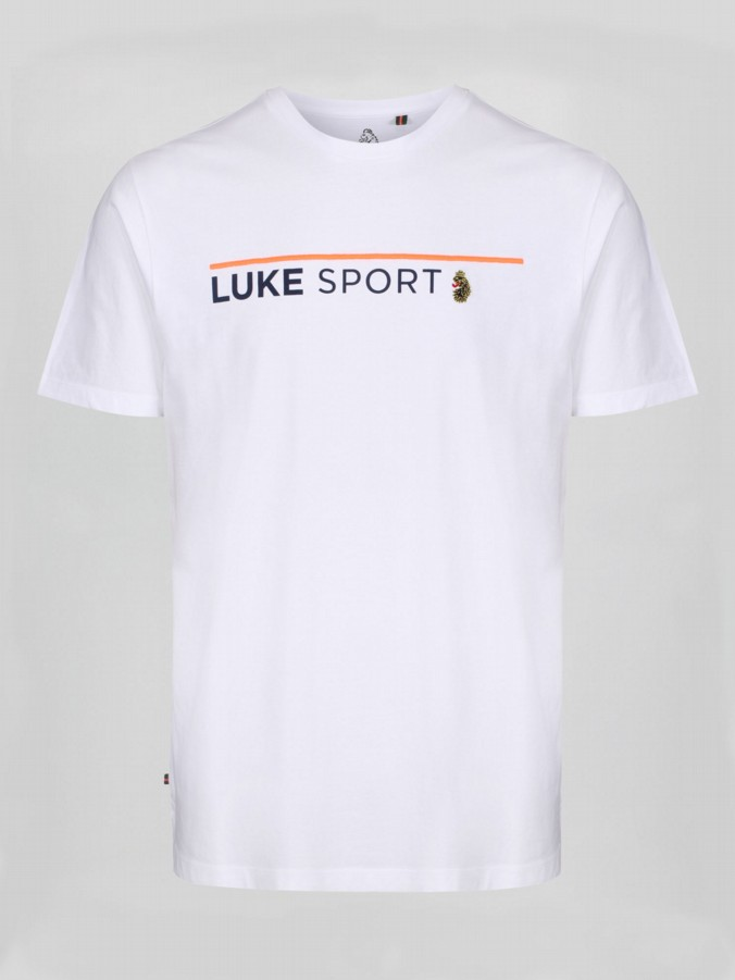 FREEDOM LUKE SPORT EMBROIDERY DETAIL CREW T-SHIRT