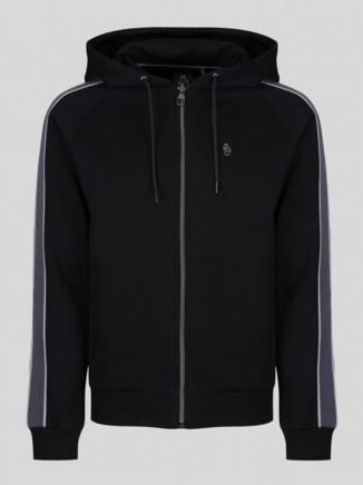 PAUL HAMMOND ZIP THROUGH PIPED DETAIL HOODY