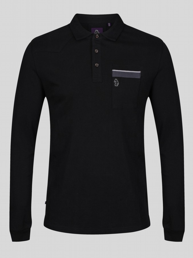 LONG MICK PRAT PIPED DETAIL POLO