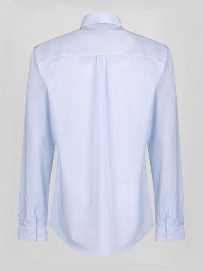 LSMM L/S MIXED FABRIC SHIRT