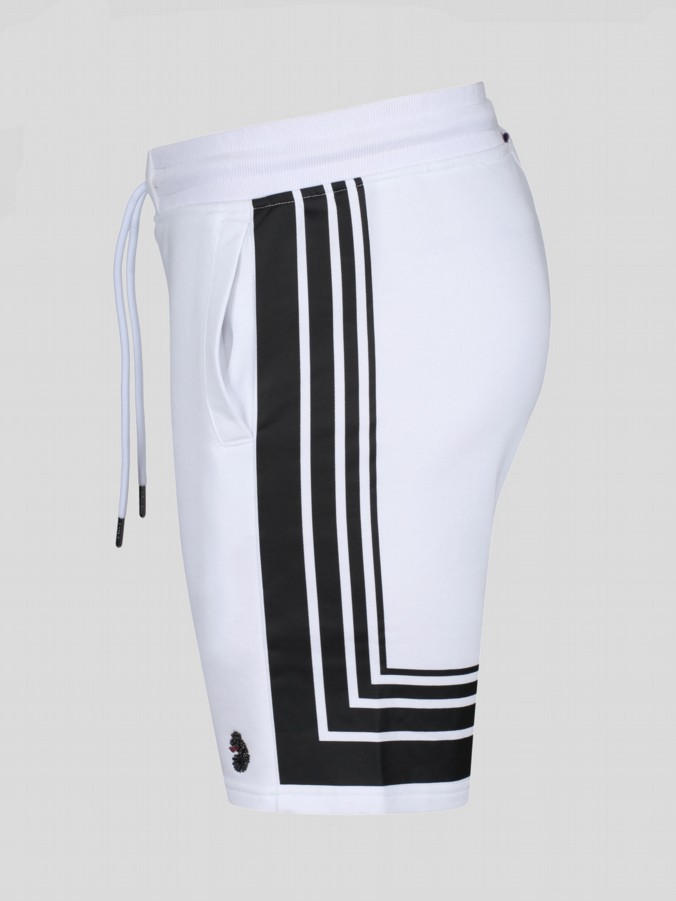QUIFF RICHARDS STRIPED DETAIL RIB SHORT