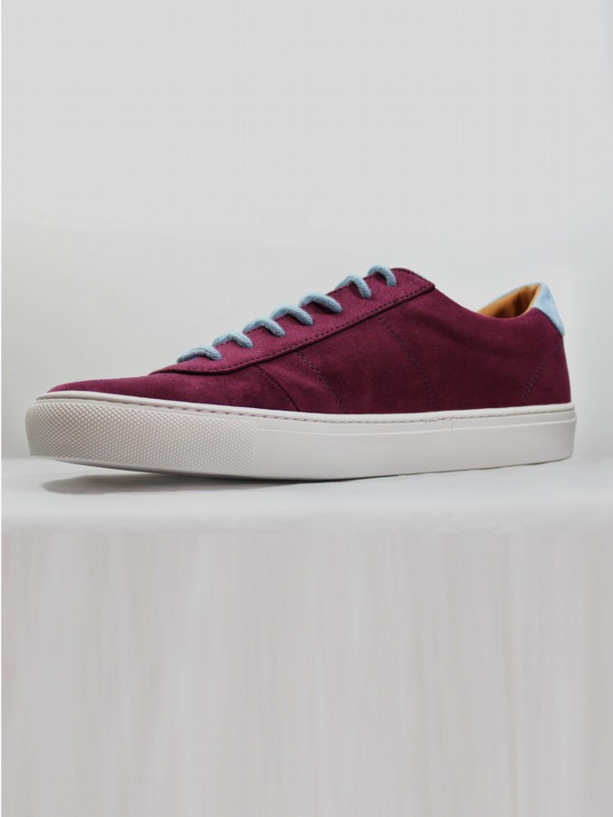 PALM JNR MICROFIBRE SUEDE LOW CUT TRAINER