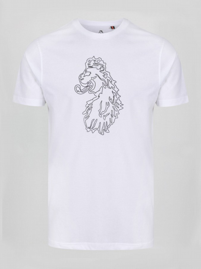 LION CHAIN PRINTED T-SHIRT