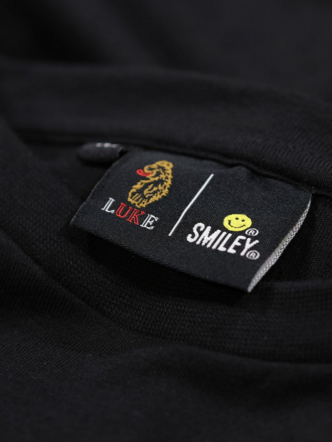 VIBES LUKE X SMILEY SPORT FACED PRINTED T-SHIRT