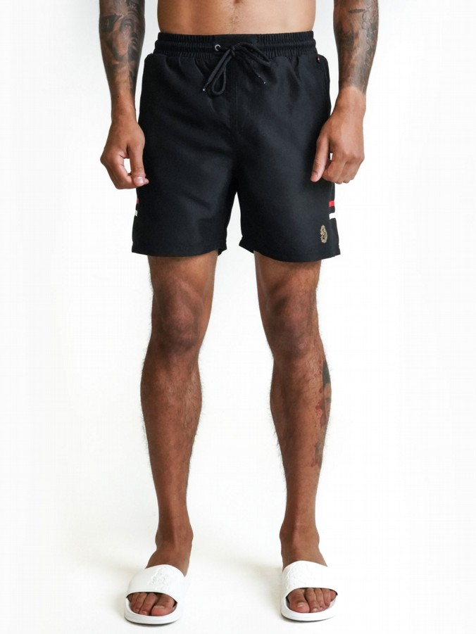 TAPEHEAD SWIM SHORTS WITH TRIM TAPE DETAIL
