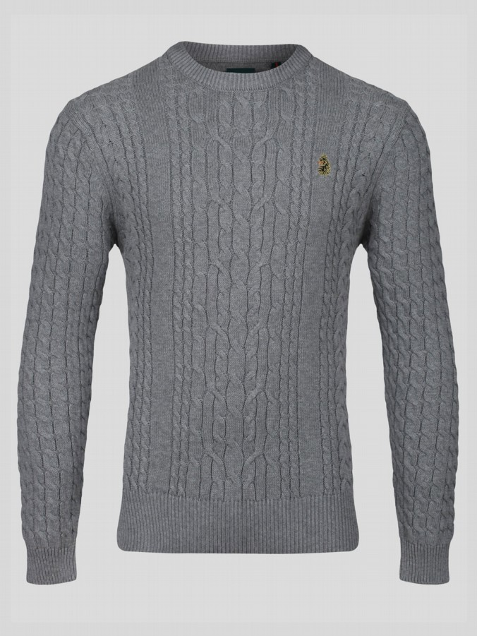 CARTER JOHNSON SPORT CABLE KNIT CREW NECK