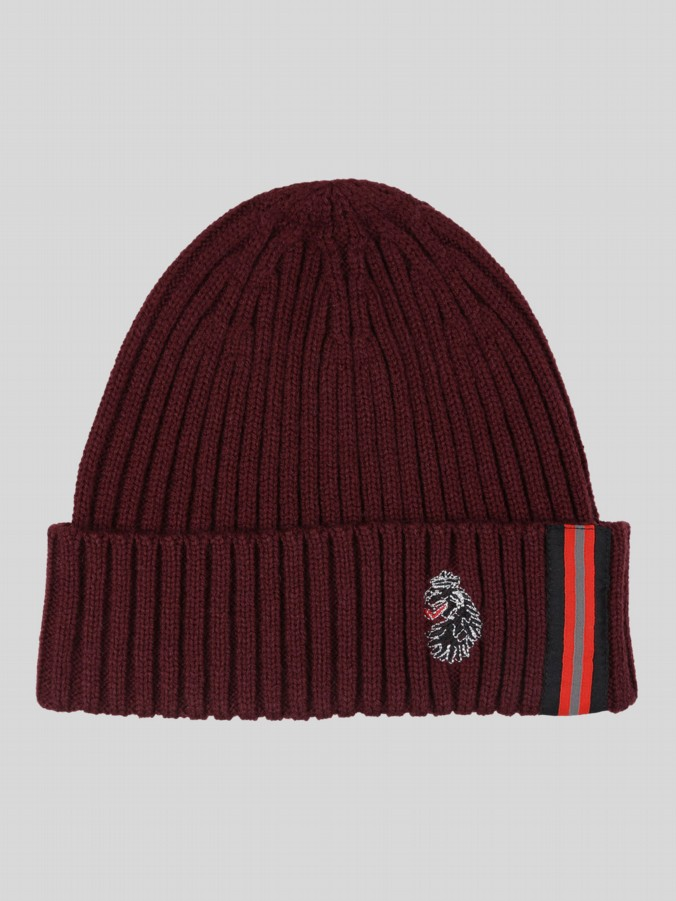 WINGER KNITTED STRIPE RIB BEANIE